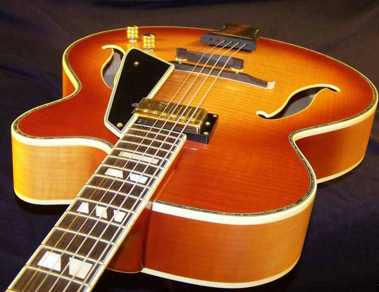 The Peerless Jazz City archtop jazz guitar is a work of art